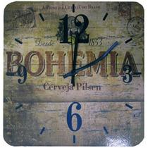 Relógio De Parede Quadrado Bohemia
