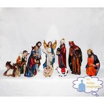 Nacimiento Miniatura Grande Texturizado Navideño Religioso