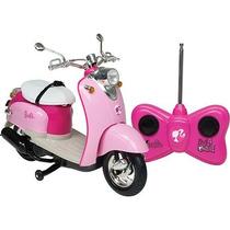 Carro Moto Controle Remoto Barbie Motoneta Candide
