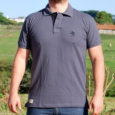 Camiseta Polo Granfino Sacudido s - Chumbo E Preto - R  120 9c75ab3487b42