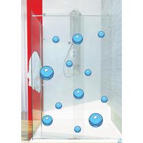 Adesivo Banheiro Porta Box Vidro Kit 37 Bolhas Fundo Mar