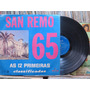 Festival San Remo 1965 Primeiras Classificadas Lp Chantecler