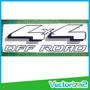 Calcomania 4x4 Off Road Ford Lariat Fortaleza F-150 F150