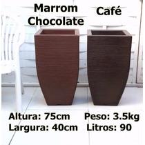 Kit Com 2 Vasos Planta Ornamentais Rafia Buchinho T 75x40 Cm