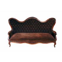 Sofa Antigo Tecido Luxuoso Jacarandá