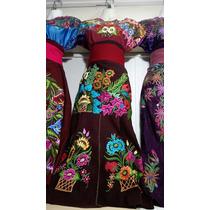 Trajes Típicos/artesanales Bordados De Chiapas - 3 Piezas