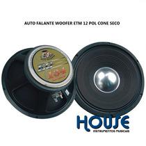 Auto Falante Woofer 12 Etm Eg-134, 600w ,caixa Instrumento