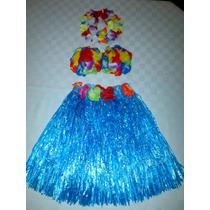 Faldas Hawaianas Unicolor Dizfras Para Niña