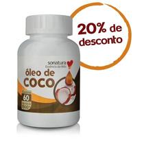 Óleo De Coco Sonatura 1000mg - 60 Cápsulas