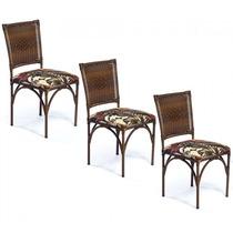 Cadeira Decorativa 3 Peças Em Aço Mobile
