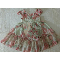 Vestido Infantil Festa Bordado Cattai