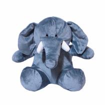 Elefante De Pelúcia Cinza - 26 Cm - Sentado