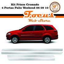 Kit De Frisos Cromado 4 Portas Palio Weekend 08/09/10