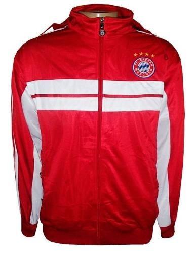 ae9ae9ba6 Agasalho Bayern De Munique Vermelho E Preto Nylon - R  145