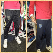 Pantalon Entrenamiento Boca Chupin Babucha Negro Y Azul.