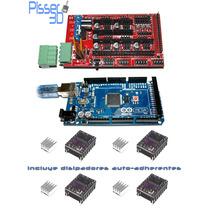 Kit Hd Impre Arduino Mega 2560 Ramps 1.4 Dvr8825x4 Pisser 3d