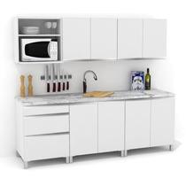 Mueble De Cocina 2,20 Blanco Mts Manijas J Aluminio