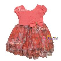 Vestido De Festa Infantil Rendado Com Faixa De Brinde