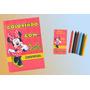 30 Kit Livrinhos/revista Colorir Personalizados+ Giz De Cera