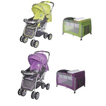 Combo Bebe Coche Reversible Corral Cuna Cutebabies
