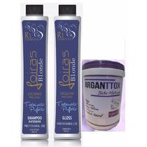 Semi Definitiva Loiras Blonde 2x1 L + Botox Matizador 500g