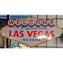 Placa Mdf Decorar Parede Las Vegas Welcome Clássico Logo
