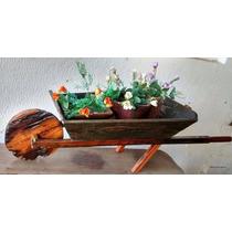 Floreira Carrinho De Mão De Madeira