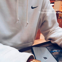 Sweater Nike Suéter Nike Con Capucha Algodón Unicolor Unisex