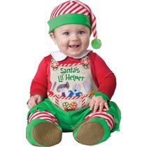 Disfraz Navidad Ayudante De Santa Bebe Pino Angel Duende Re