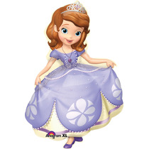 Globo Princesa Sofia Paq 3 Pzas Jumbo 28 Pulgadas Helio