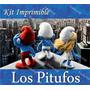 Kit Imprimible Pitufos La Pelicula 3d Smurfs Invitaciones Co