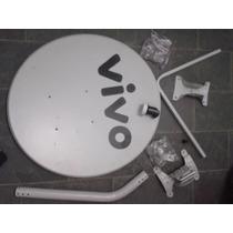 Kit 06 Antenas Banda Ku 60cm + 06 Lnb Simples + 10 Conector