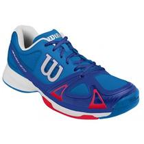Zapatillas Wilson Rush Evo (azul C/rojo) /tennisheroshop