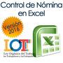 Control De Nómina, Recibo De Pago, Lottt, En Excel