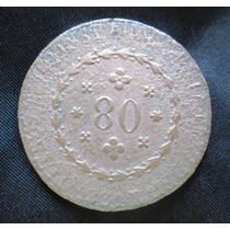 Moeda Brasileira - 1831 - 80 Réis - Bronze - Império Rara!