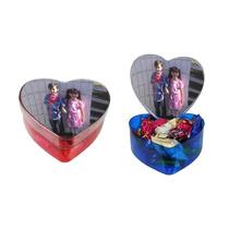 10 Caixa De Acrílico Coração Várias Cores (lembrancinha)