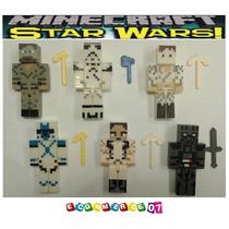 Minecraft - Star Wars X 6 + Accesorios + Cartas + Cajas!