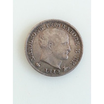 Moneda Italia Napoleon 5 Soldi 1812 M De Plata