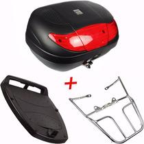 Bau Moto 45 Litros + Bagageiro Fan 125 Ks Es Esi Esdi 14/15