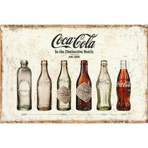 Carteles Antiguos Chapa Gruesa 60x40cm Coca Cola Dr-017