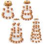 3-7 Nivel Cristal Claro Acrílico Redondo Cupcake Muffin