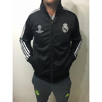 Campera Adidas Real Madrid Fc Negra Ucl Champions