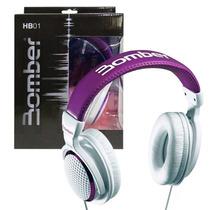 Headphone Fone Ouvido Bomber - Hb01 Violeta Estilo Subwoofer