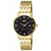 Relógio Dumont Feminino Dourado Com Preto Ref: Du2115bp4p