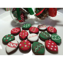 Tarro C/galletas Decoradas, Regalo Detalle Navidad Año Nuevo