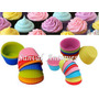 6 Moldes P/ Cupcakes Muffins Pirotines De Silicona Flexible