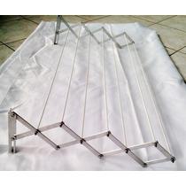 Varal Sanfonado 7 Varetas Ferro Com Alumínio(l) 60cm X 43cm*