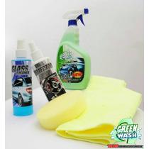 Green Wash Lavado Sin Agua Para Auto Lava Y Encera En Seco