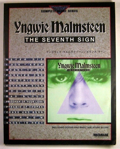 Songbook - Yngwie Malmsteen - The Seventh Sign - R$ 399,00 ...