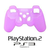 Capa Case Protetora De Controle Vídeo Game Ps2 Ps3 Silicone